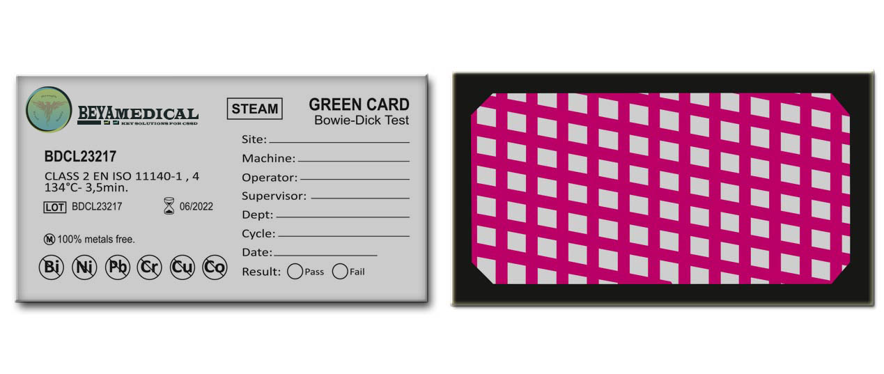 Bowie dick green card